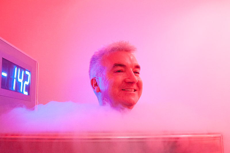 Man Trying Cryo treatment in Sydney
