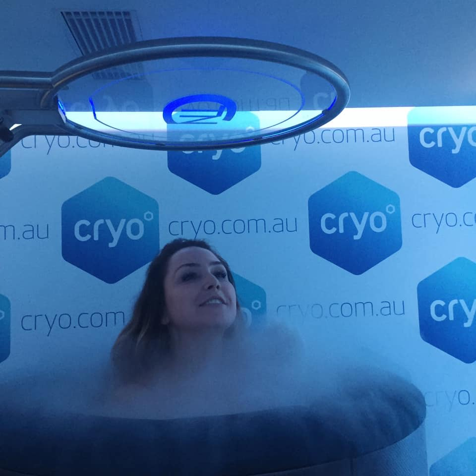 Cryotherapy session in winter